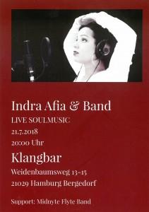 Indra Afia & Band in der Klangbar